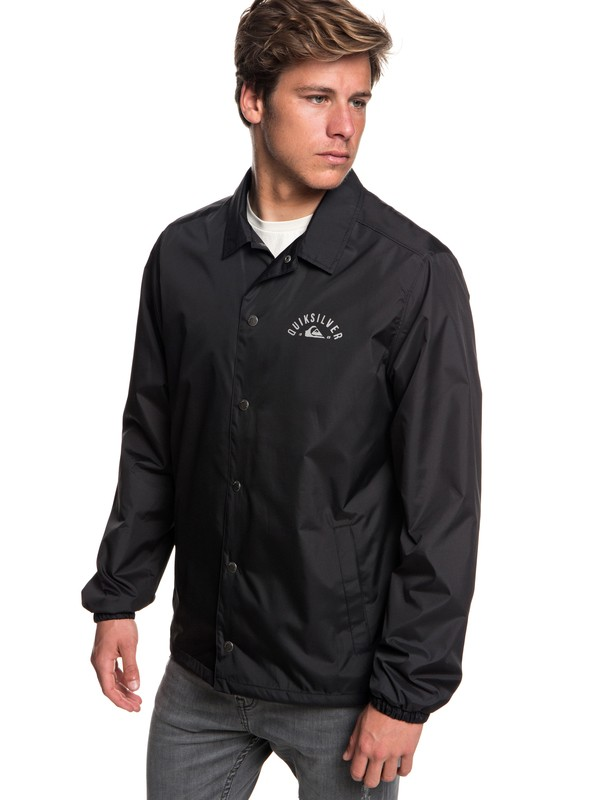 0 Ohama Break Water-Resistant Coaches Jacket Black EQYJK03455 Quiksilver
