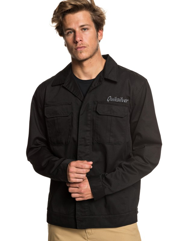 0 Twice Wilted - Shirt Jacket for Men Black EQYJK03464 Quiksilver