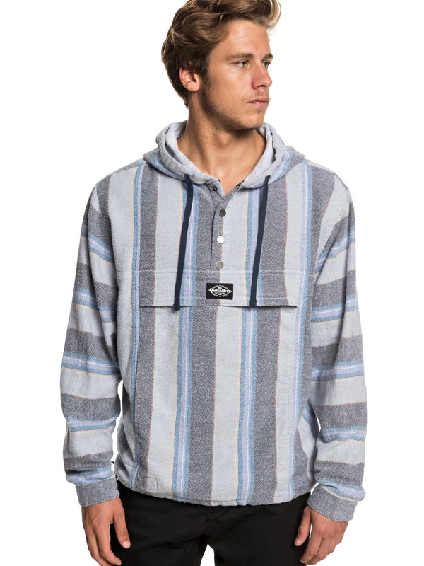 0 Neo Blue - Flannel Hoodie for Men  EQYJK03465 Quiksilver