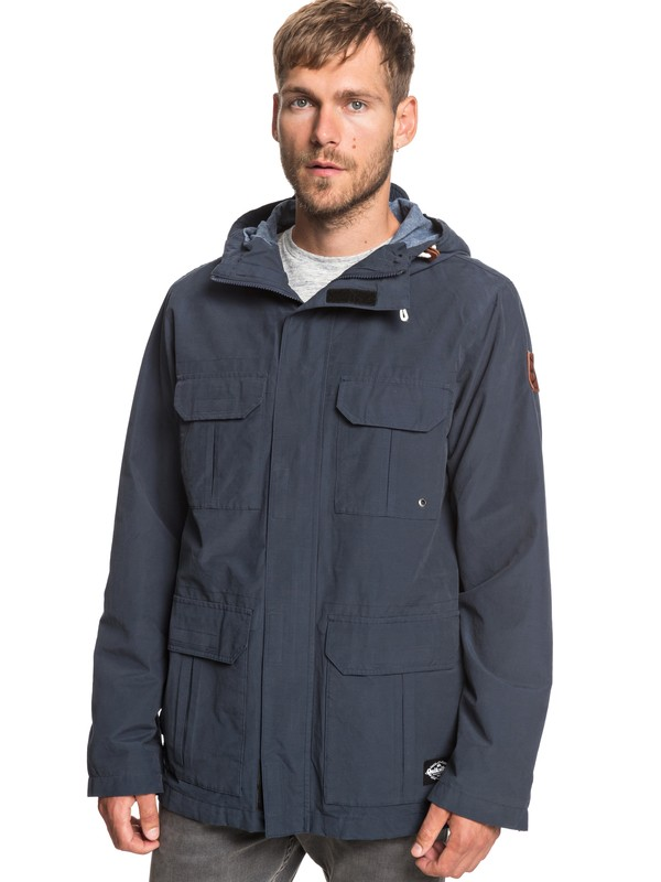 0 Fresh Evidence - Field Jacket for Men Blue EQYJK03470 Quiksilver
