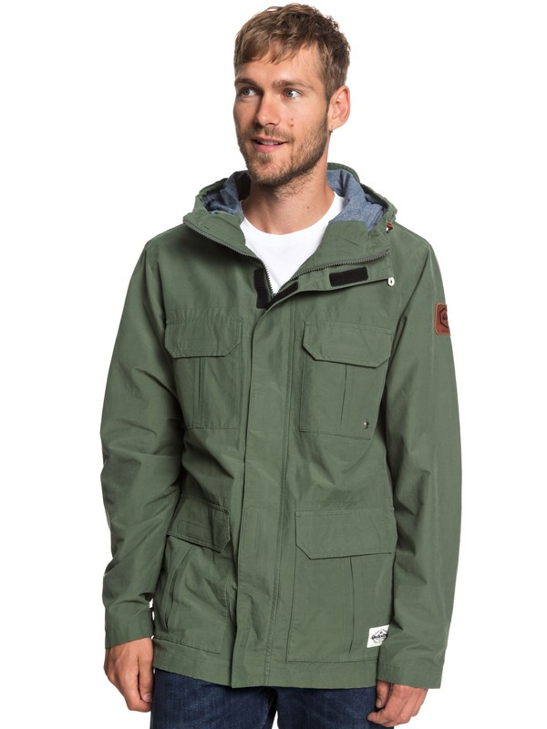 0 Fresh Evidence - Field Jacket for Men Brown EQYJK03470 Quiksilver