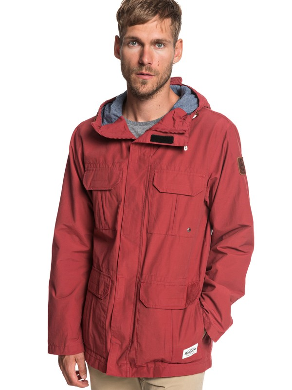 0 Fresh Evidence - Field Jacket for Men Red EQYJK03470 Quiksilver