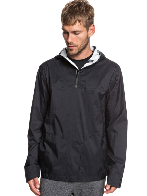 0 Adapt Packable Water-Repellent Anorak Black EQYJK03474 Quiksilver