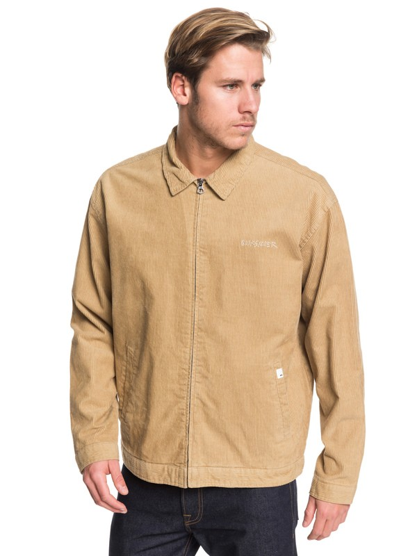 0 Yallingup Zip-up Corduroy Jacket Brown EQYJK03501 Quiksilver
