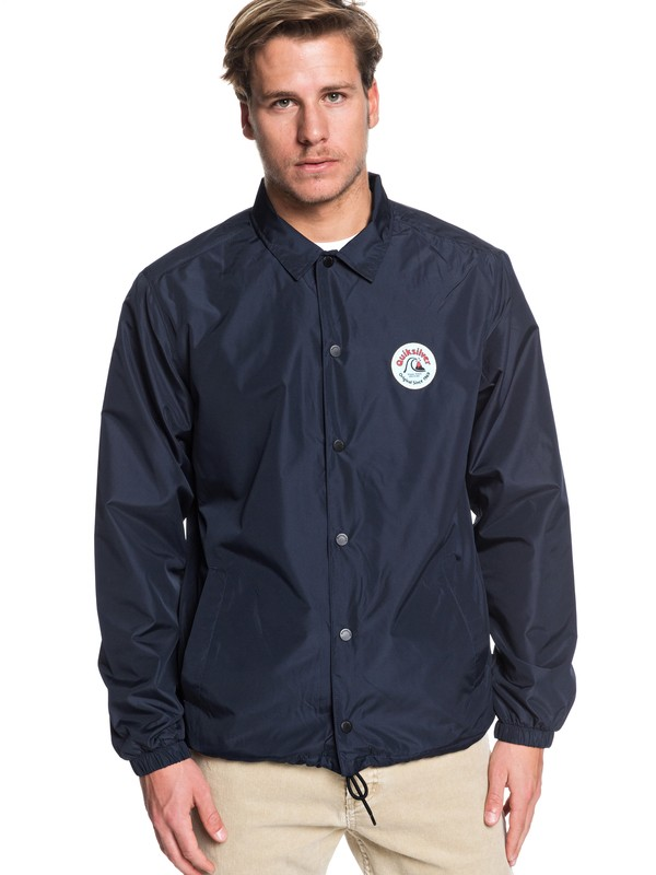 0 Surf Coach Water-Resistant Coached Jacket Black EQYJK03505 Quiksilver