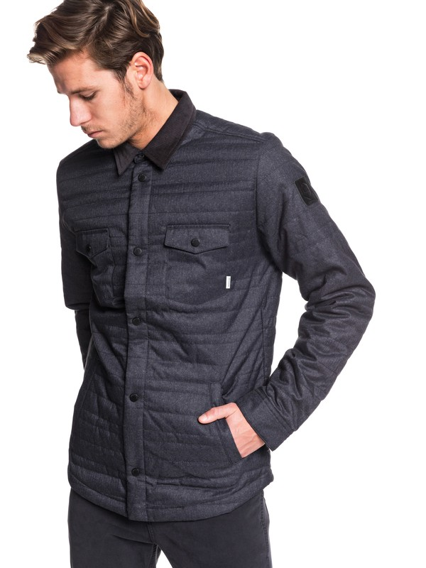 0 Broken Nose Padded Overshirt Jacket Black EQYJK03514 Quiksilver