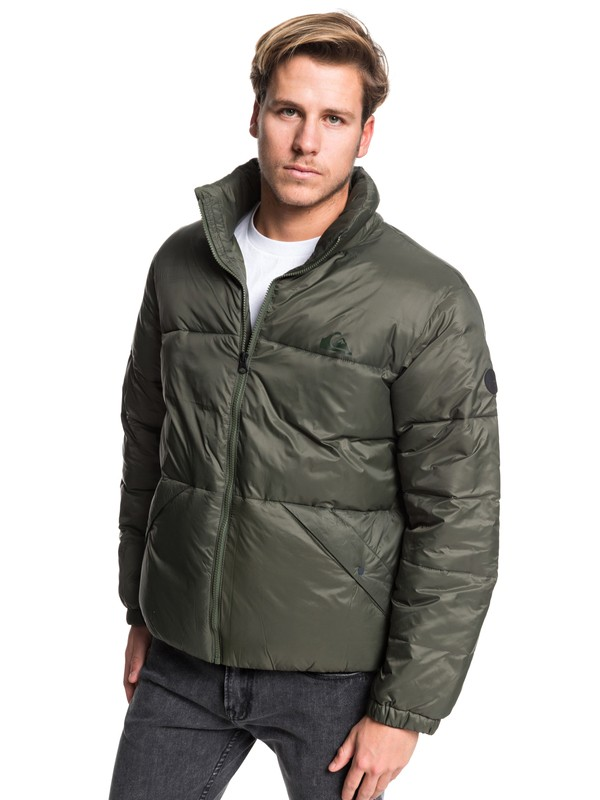 0 The Outback Oversized Puffer Jacket Brown EQYJK03516 Quiksilver