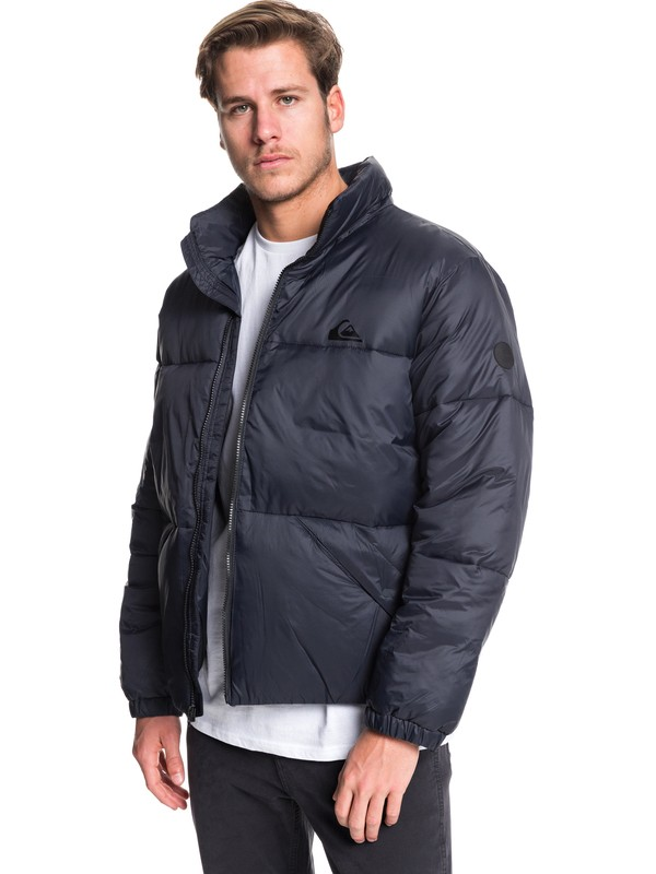 0 The Outback Oversized Puffer Jacket Black EQYJK03516 Quiksilver