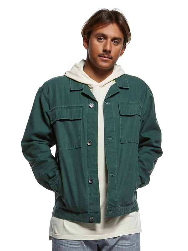 0 The Originals Workwear Jacket Green EQYJK03517 Quiksilver