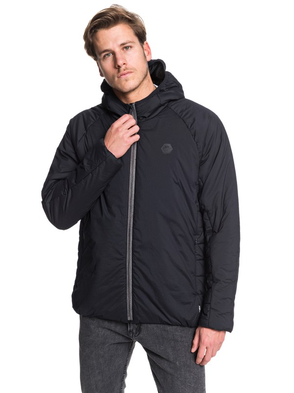 0 Adapt Lightweight Hooded Packable Down Jacket Black EQYJK03519 Quiksilver