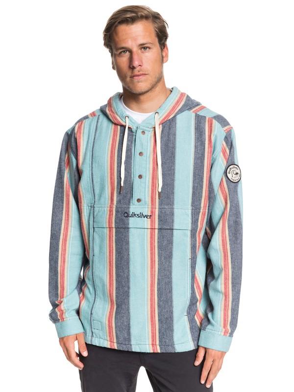 0 Neo Inca Hooded Flannel Anorak Blue EQYJK03526 Quiksilver