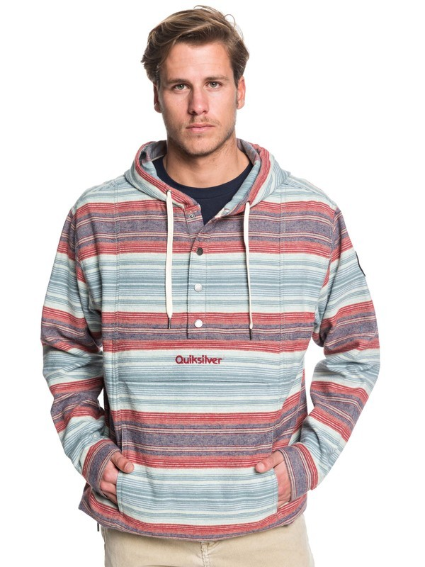 0 Neo Inca Hooded Flannel Anorak Red EQYJK03526 Quiksilver
