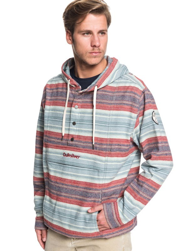 Neo Inca - Hooded Flannel Anorak for Men  EQYJK03526