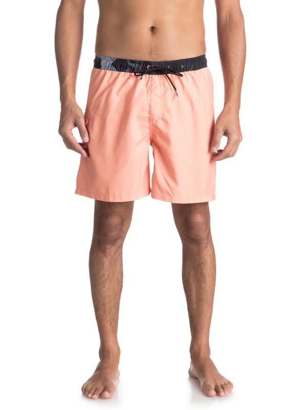 "0 Lava Logo 17"" - Traje De Baño para Hombre Naranja EQYJV03309 Quiksilver"