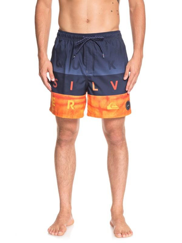"0 Word Block 17"" - Swim Shorts for Men Blue EQYJV03405 Quiksilver"