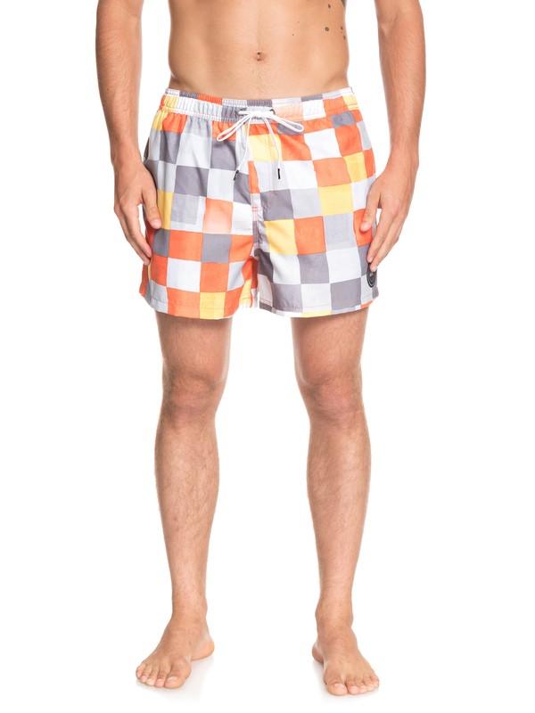 "0 Resin Check 15"" - Swim Shorts for Men Orange EQYJV03421 Quiksilver"