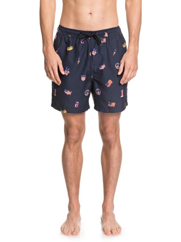 """0 Shorts para Nadar - Hot Dog de 17"""" Azul EQYJV03447 Quiksilver"""