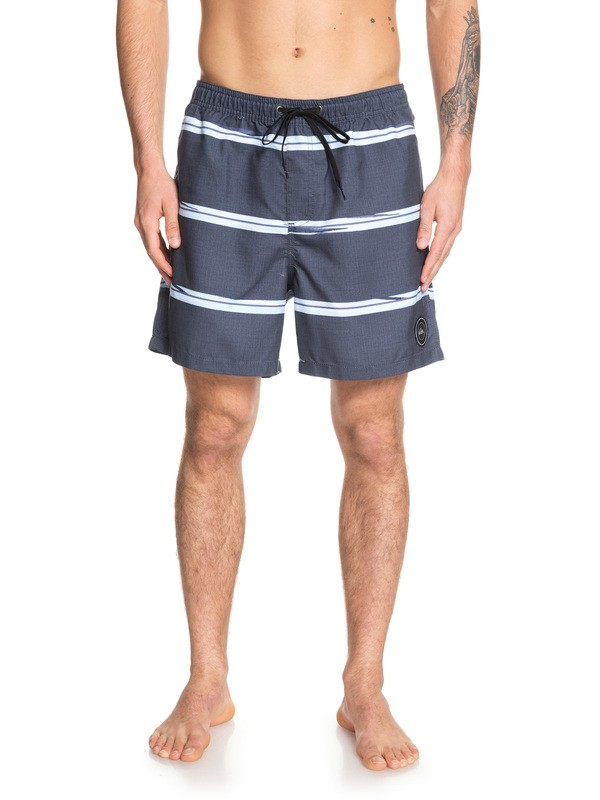 "0 Dunes Stripes 17"" Swim Shorts Blue EQYJV03448 Quiksilver"