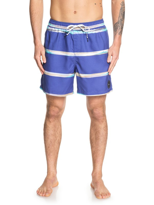 "0 Dunes Stripes 17"" Swim Shorts Purple EQYJV03448 Quiksilver"