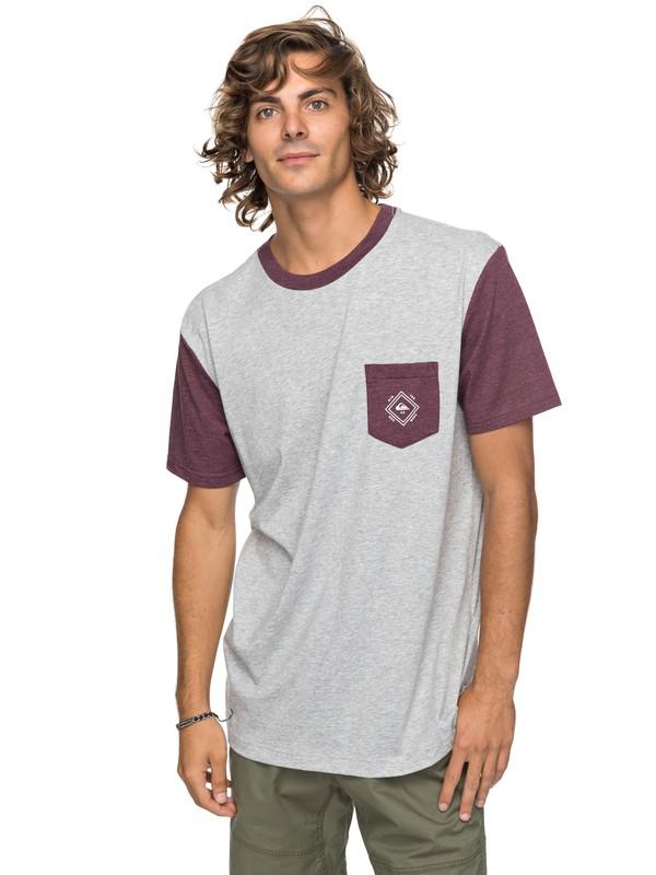 0 Baysic - Pocket-T-Shirt für Männer Grau EQYKT03733 Quiksilver