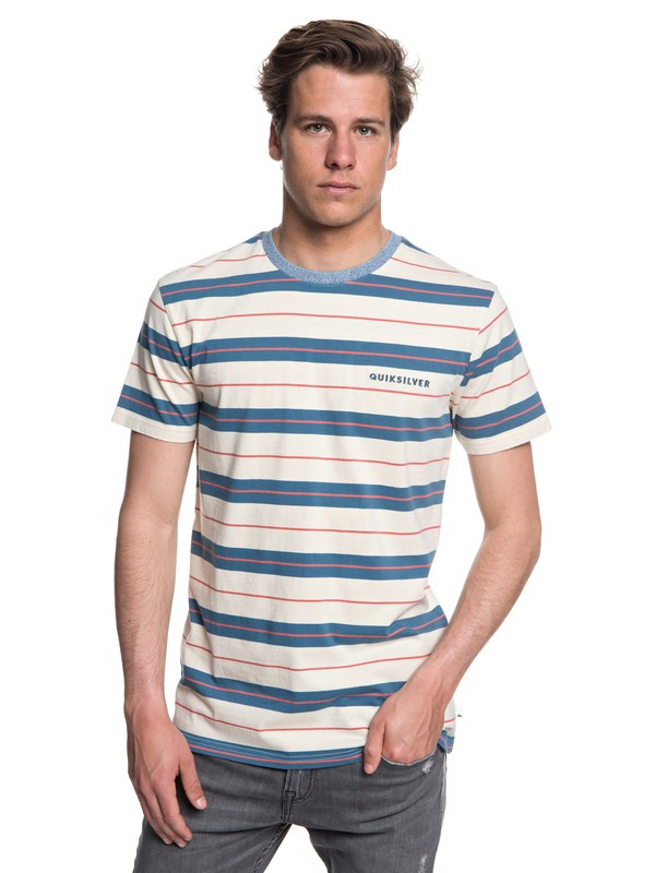 0 Dera Steps - T-shirt col rond pour Homme Bleu EQYKT03753 Quiksilver