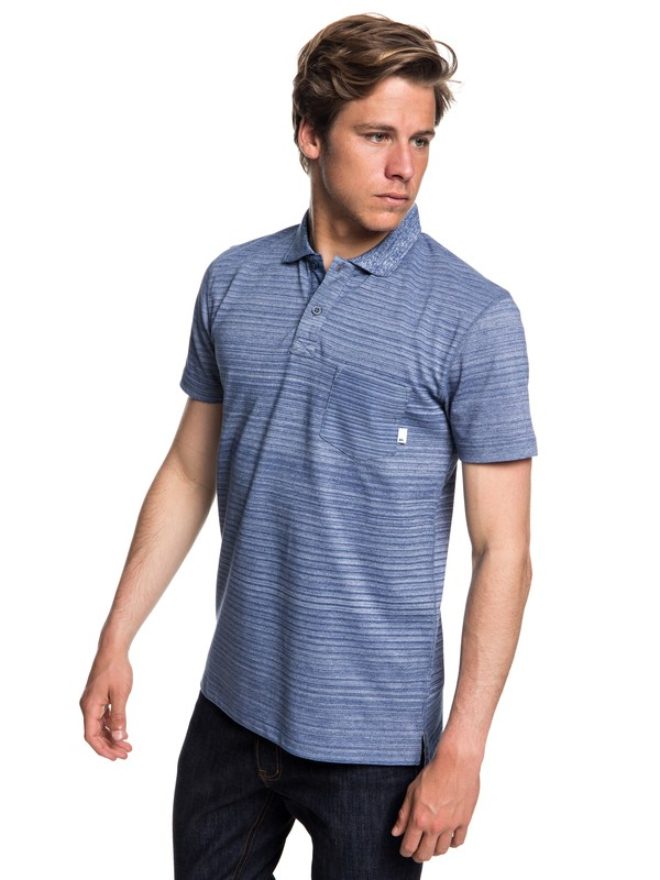 0 Michi Point - Polo à manches courtes pour Homme Bleu EQYKT03775 Quiksilver