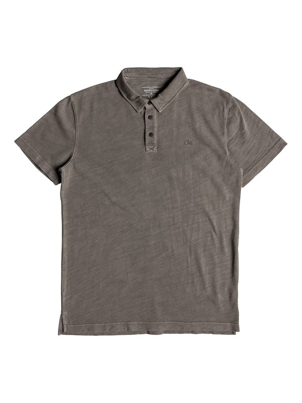 0 Everyday Sun Cruise Short Sleeve Polo Shirt Grey EQYKT03784 Quiksilver
