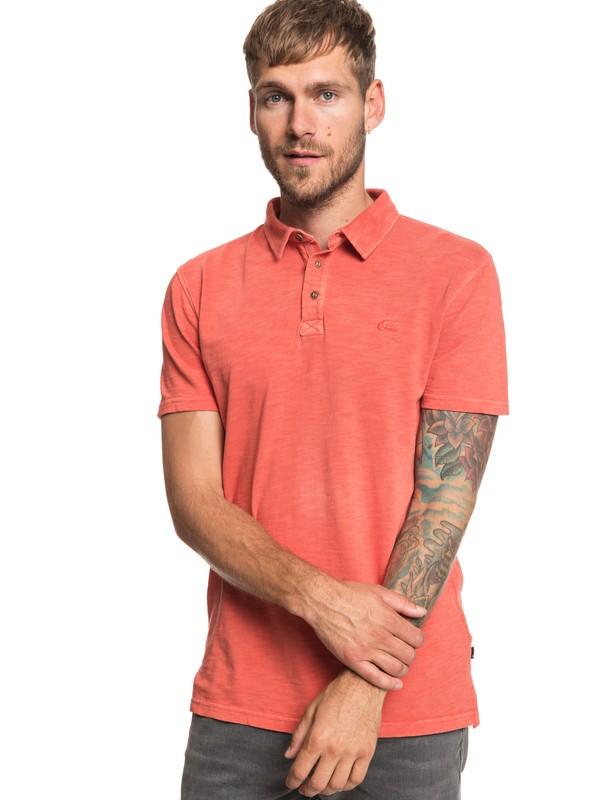0 Everyday Sun Cruise - Short Sleeve Polo Shirt for Men Orange EQYKT03784 Quiksilver