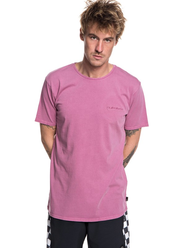 0 Acid Sun - T-Shirt voor Heren Pink EQYKT03786 Quiksilver