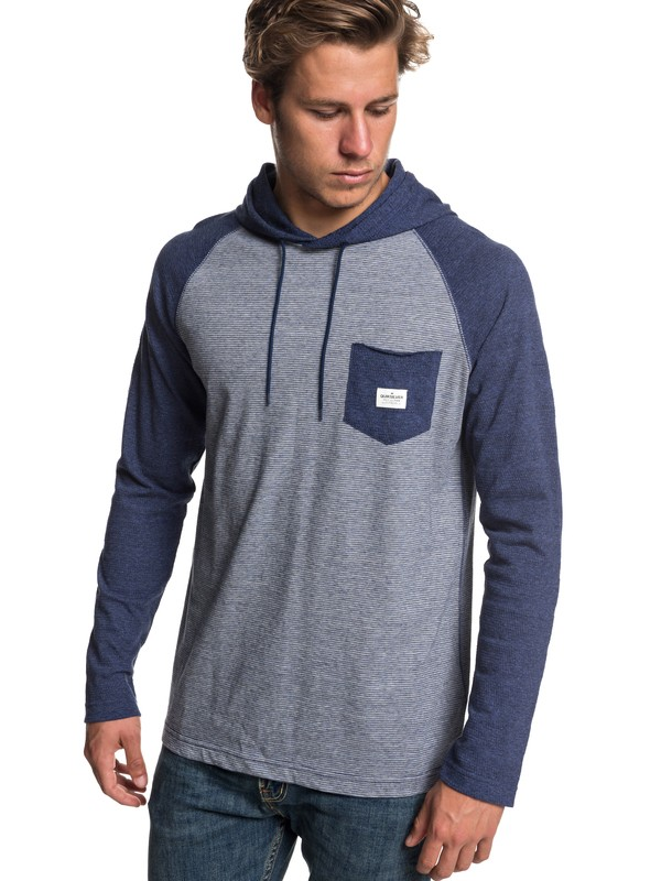 0 Michi Long Sleeve Hooded Top Blue EQYKT03799 Quiksilver