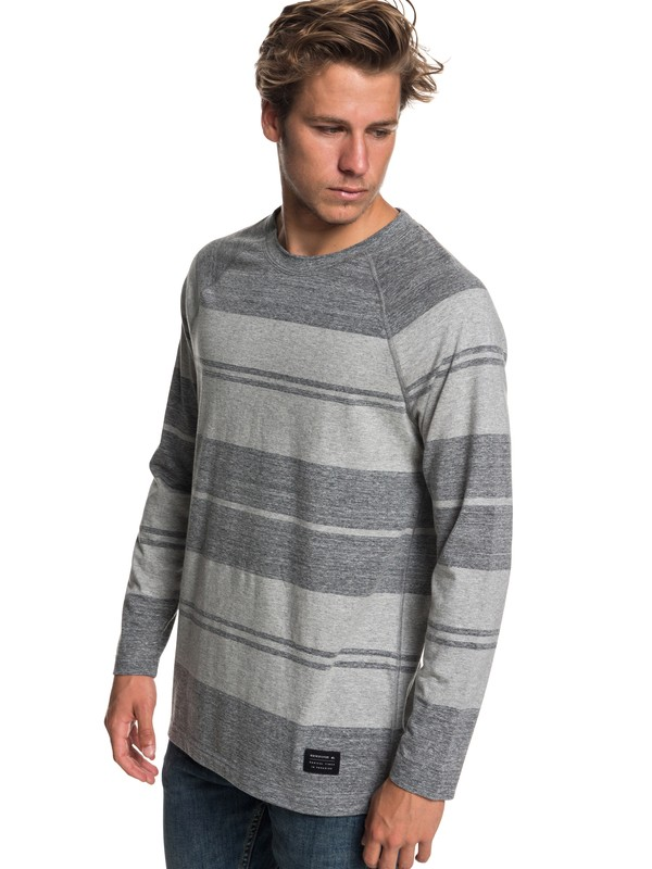 0 Suko Circle Stripe Long Sleeve Tee Black EQYKT03801 Quiksilver