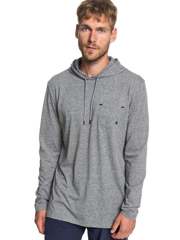0 Adapt - Long Sleeve UPF 30 Hooded Top for Men Black EQYKT03829 Quiksilver