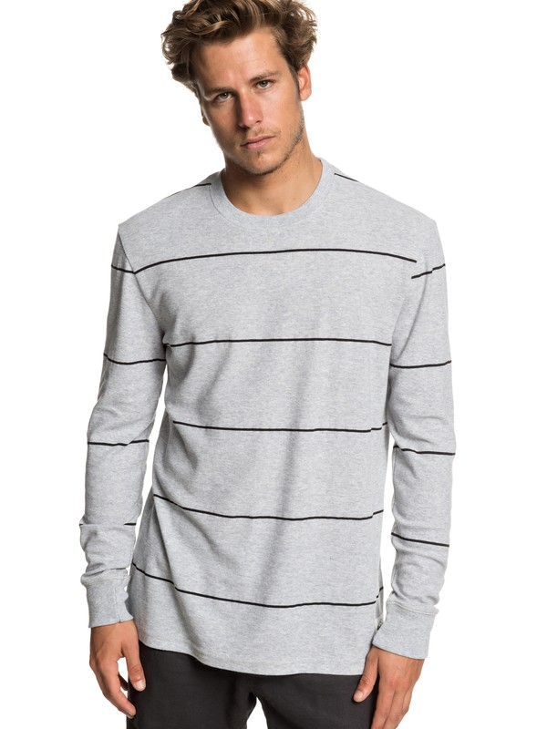 0 Grafton Keys Long Sleeve Top Grey EQYKT03834 Quiksilver