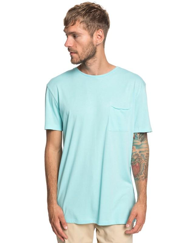 0 The Organic - Camiseta con Bolsillo para Hombre Azul EQYKT03836 Quiksilver