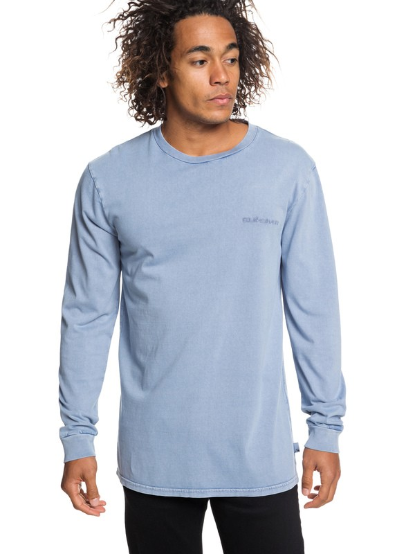 0 Originals Long Sleeve Tee Blue EQYKT03838 Quiksilver