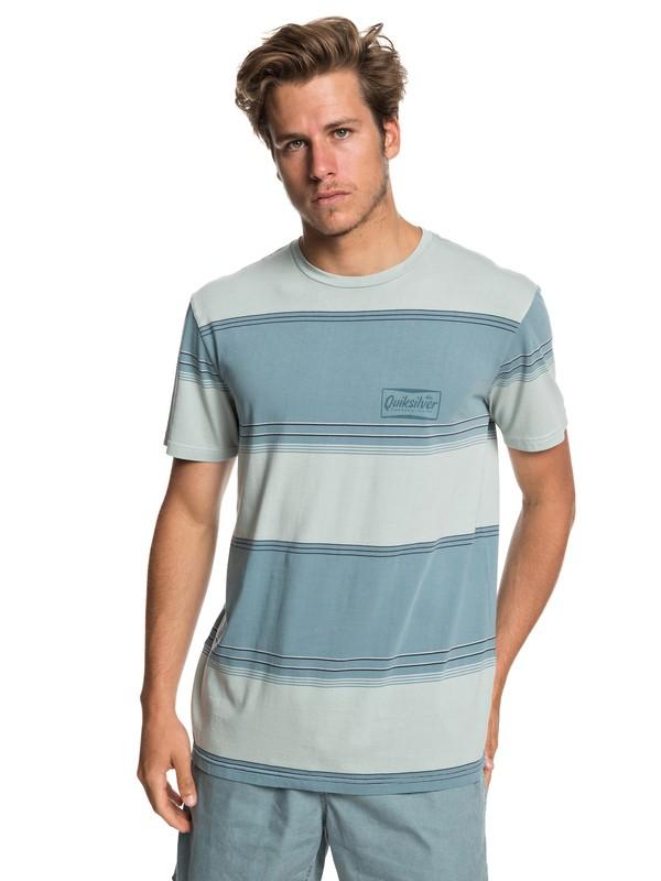 0 Gradient Stripe Tee Blue EQYKT03849 Quiksilver