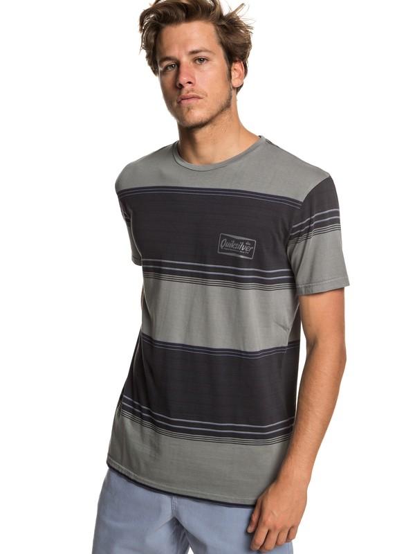0 Gradient Stripe Tee Black EQYKT03849 Quiksilver