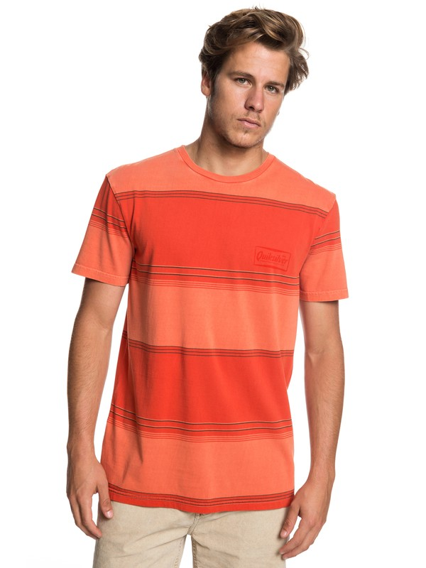 0 Gradient Stripe - T-Shirt for Men Orange EQYKT03849 Quiksilver
