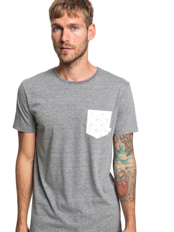 0 Broken Leash - Pocket T-Shirt for Men Black EQYKT03862 Quiksilver