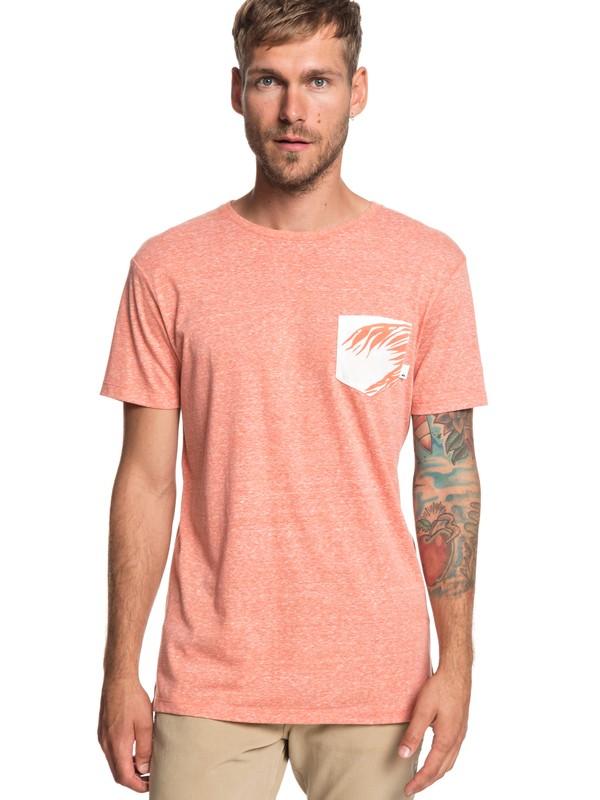 0 Broken Leash - Camiseta con Bolsillo para Hombre Naranja EQYKT03862 Quiksilver