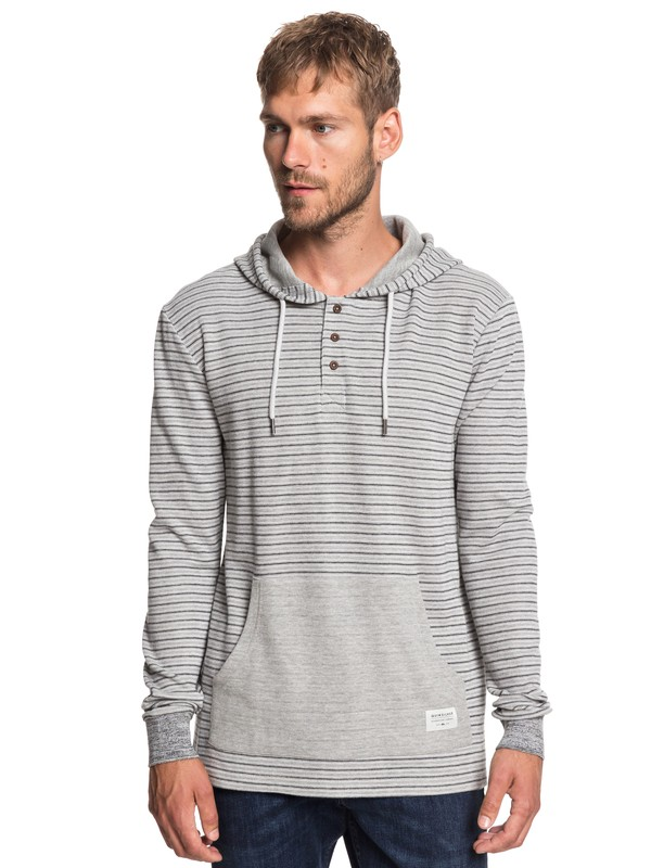 0 Stare Me Under - Hooded Jumper for Men Grey EQYKT03866 Quiksilver