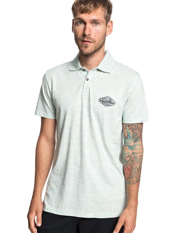 0 Kalbarri Short Sleeve Polo Shirt Blue EQYKT03874 Quiksilver