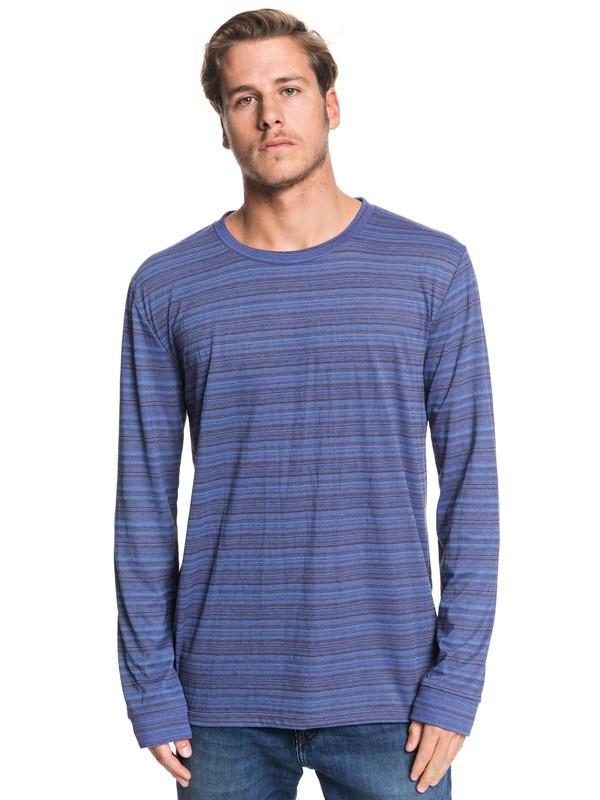 0 Double Shakka Long Sleeve Tee Blue EQYKT03904 Quiksilver
