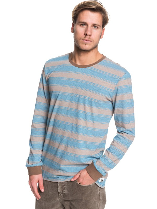 0 Double Shakka Long Sleeve Tee Blue EQYKT03904 Quiksilver