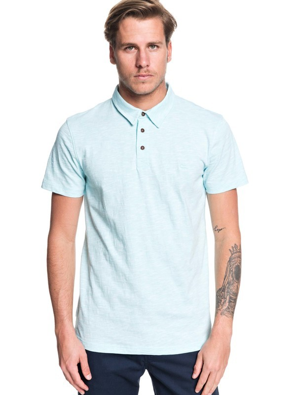 0 Everyday Sun Cruise Short Sleeve Polo Shirt Blue EQYKT03921 Quiksilver
