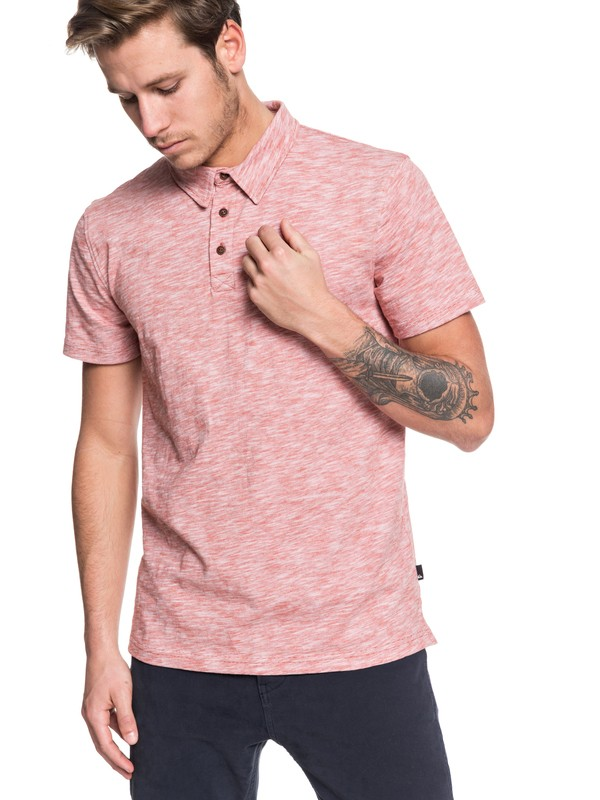 0 Everyday Sun Cruise Short Sleeve Polo Shirt Pink EQYKT03921 Quiksilver