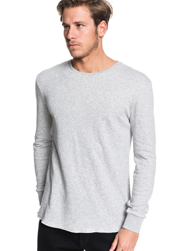 0 Hakone Long Sleeve Tee Grey EQYKT03923 Quiksilver