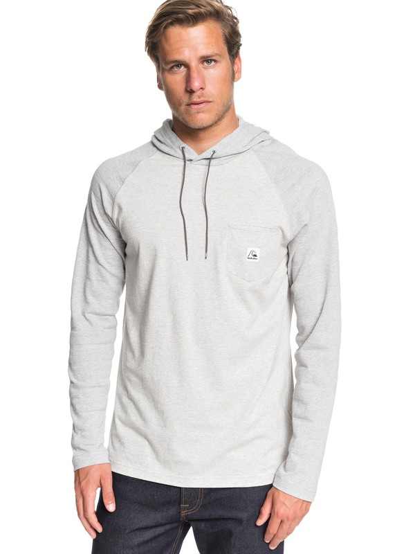 0 Michi Long Sleeve Hooded Top Grey EQYKT03934 Quiksilver