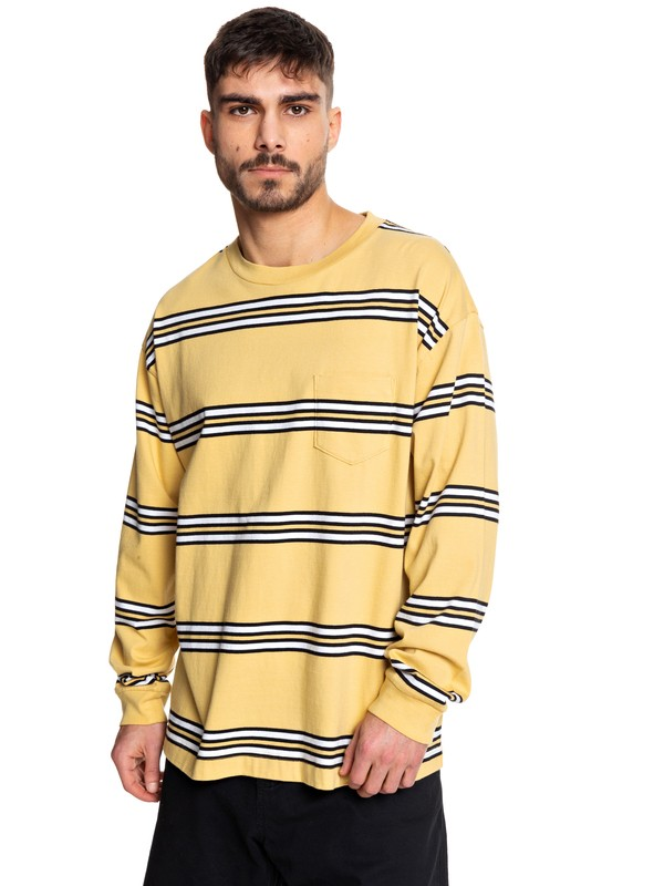 0 STM Long Sleeve Skate Tee Yellow EQYKT03954 Quiksilver