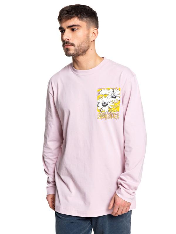 0 Positive Vibrations Long Sleeve Skate Tee Pink EQYKT03955 Quiksilver